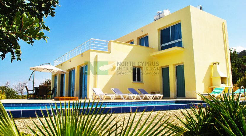 North Cyprus International - North Cyprus Property - Esentepe Cliff Top Villa D1