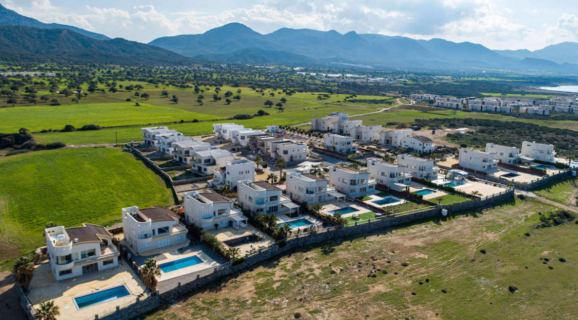 Tatlisu Bay Luxury Houses Arial Views - North Cyprus Property 2