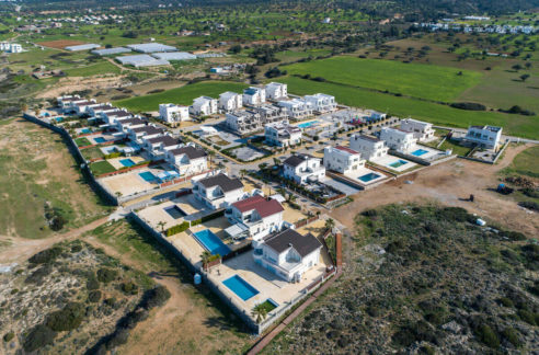 Tatlisu Bay Luxury Villas Arial Views - North Cyprus Property 2