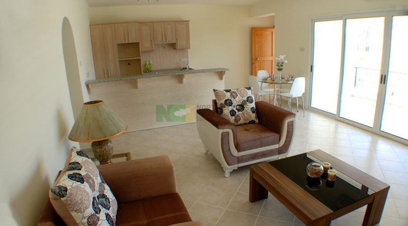 East Coast Hillcrest Apartment - 2 Bed Seaview 7 - North Cyprus Property