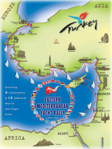 Eastern Mediterranian Yacth Rally Map