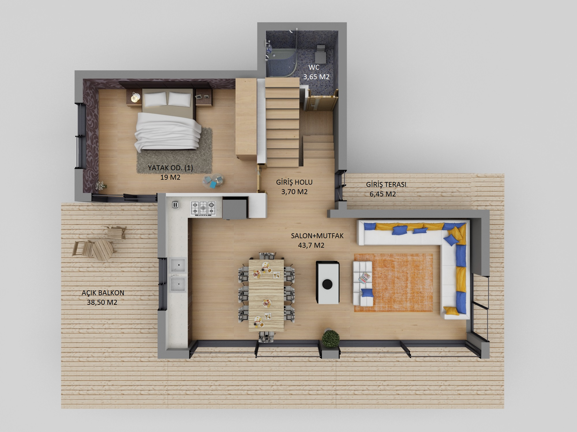 Catalkoy Modern Villa Floor Plan 6