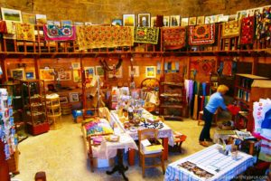 Round Tower Crafts Shop in Kyrenia - North Cyprus