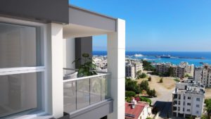 Seaview from apartment - North Cyprus Property