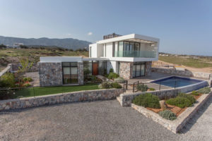 Ultra-modern Beachfront villa in Catalkoy near Kyrenia