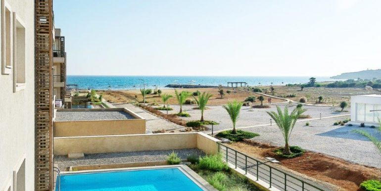 Bafra Beachfront  3 Bed Apartment with Balcony Y10 - North Cyprus Property
