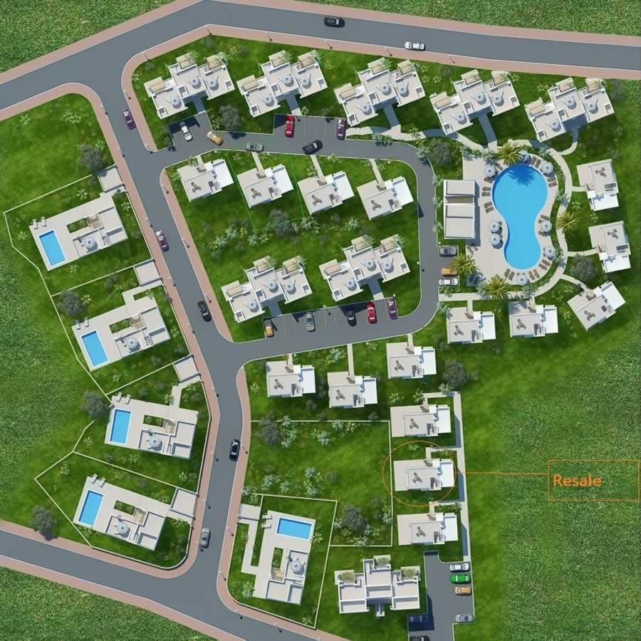 Villa Site Plan Design: Karsiyaka 3 Bedroom Villa
