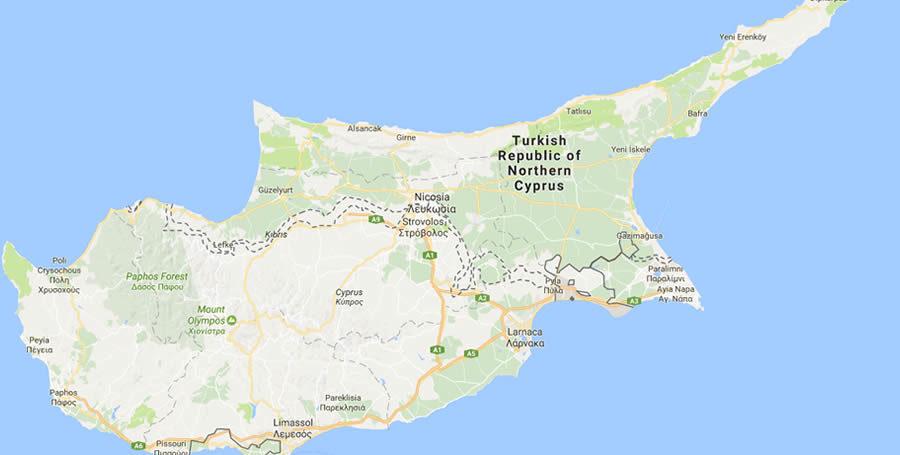 North Cyprus Map - North Cyprus International