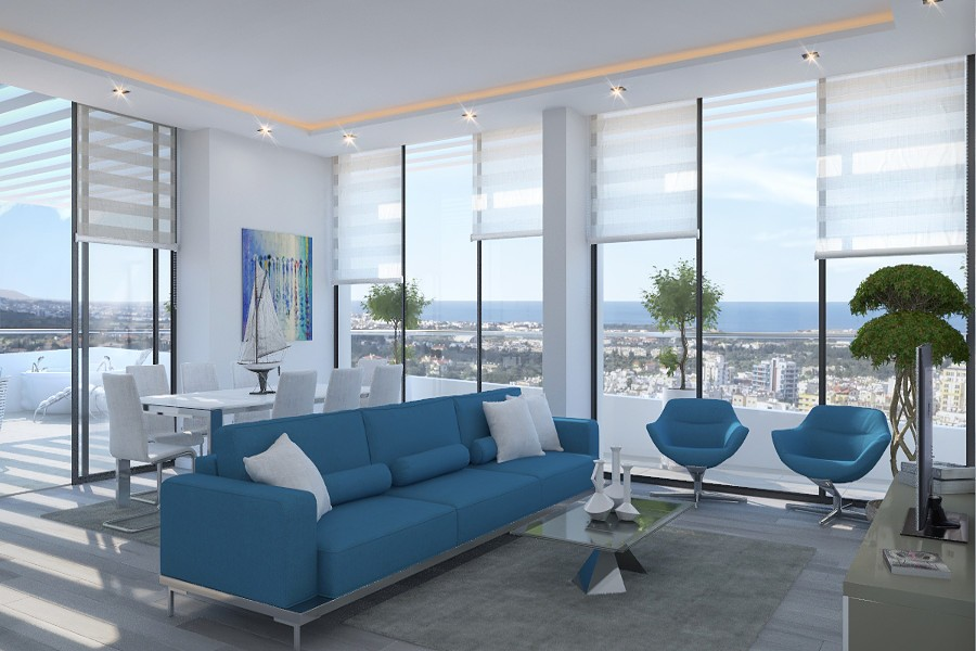 Kyrenia Heights Ultra-Modern 4 Bed Apartment