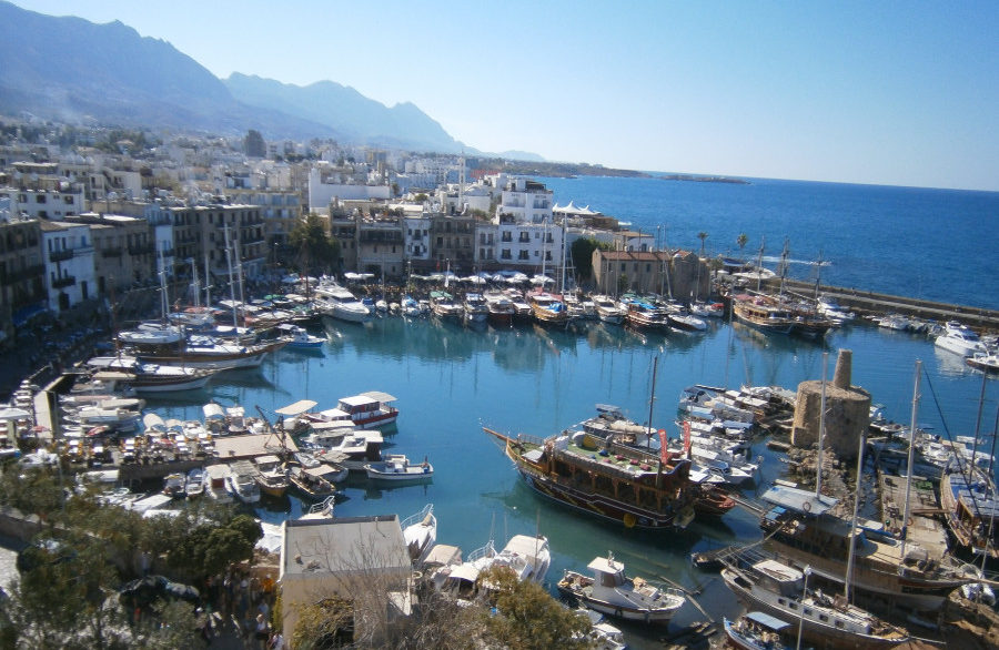 Kyrenia Harbour from the Castle - North Cyprus