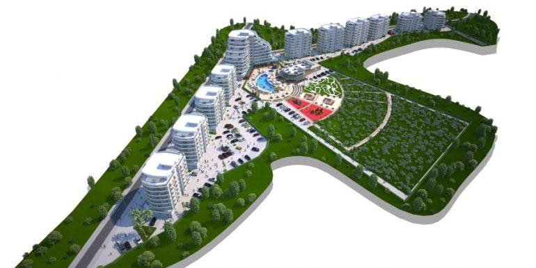 Long Beach Apartments Landscape1- North Cyprus Properties