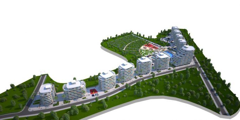 Long Beach Apartments Landscape3- North Cyprus Properties