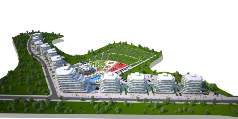Long Beach Apartments Landscape4- North Cyprus Properties