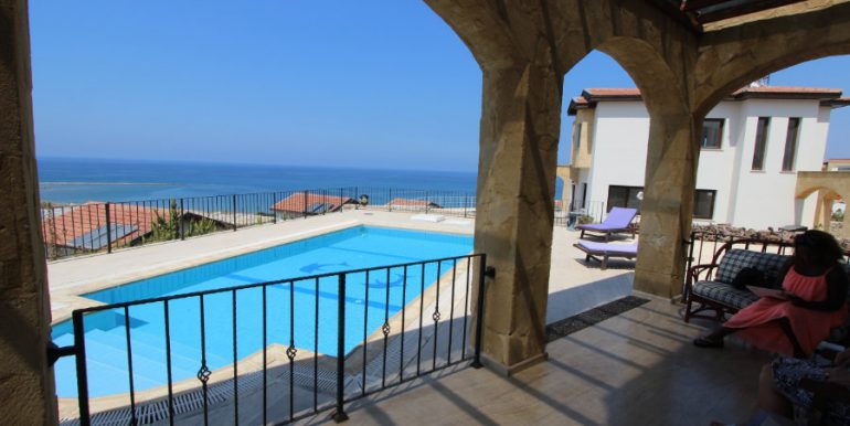Luxury Frontline Seaview Villa 3 Bed - North Cyprus Property 1