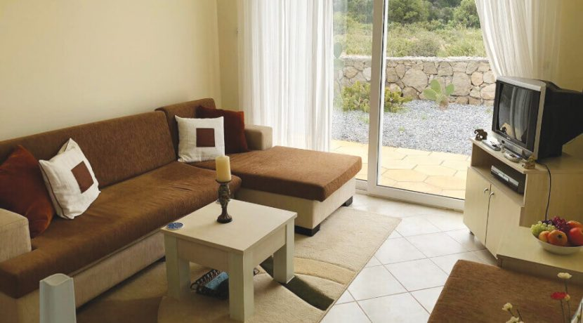Esentepe Beach Seaview Garden Apartment 1 Bed - North Cyprus Property A1