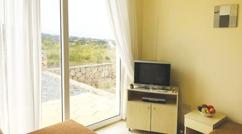 Esentepe Beach Seaview Garden Apartment 1 Bed - North Cyprus Property A5