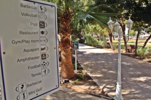 Facilities sign - North Cyprus