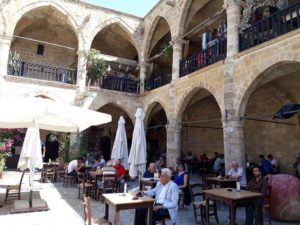 A cafe in Buyukl Han - North Nicosia of North Cyprus
