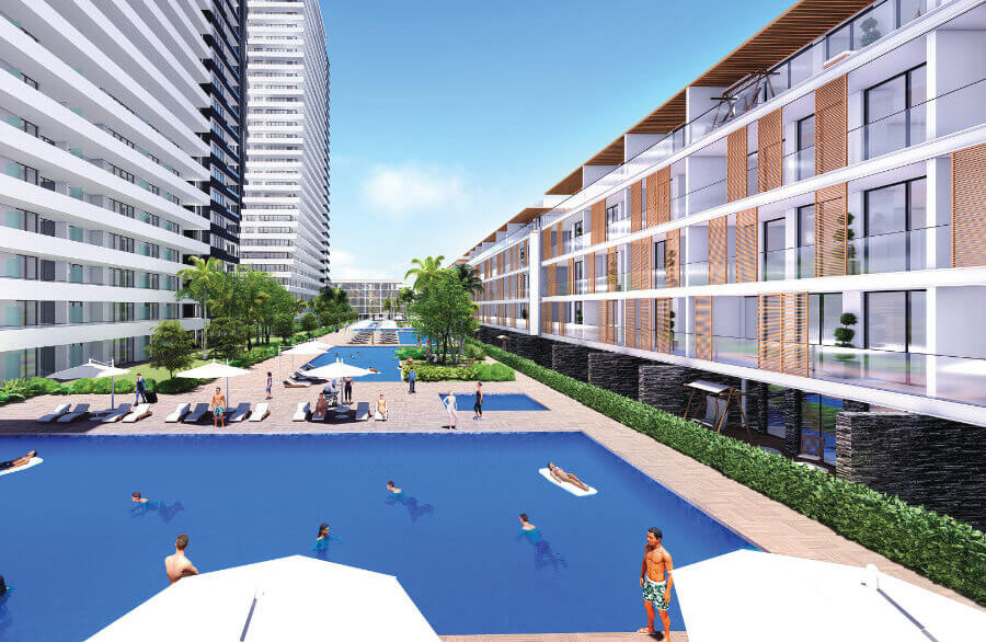 Long Beach Grand Sapphire Garden Apartment 2 Bed - North Cyprus Property 4