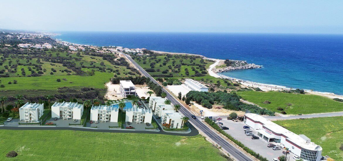 Esentepe Beach Apartments Elevations - North Cyprus Property A3