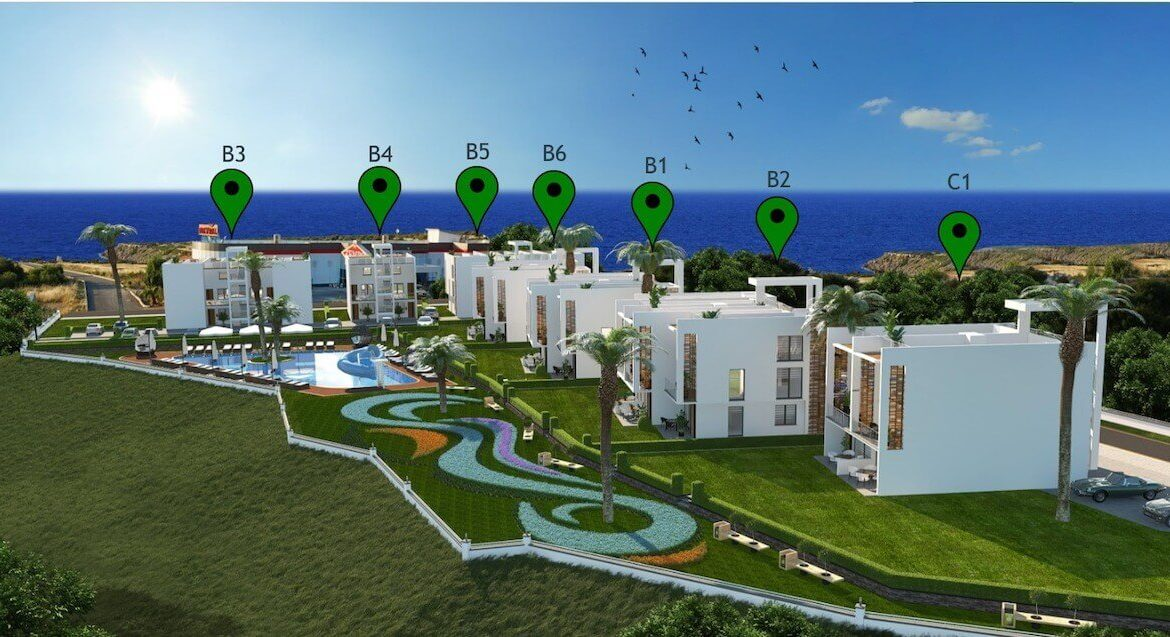 Esentepe Beach Apartments Elevations - North Cyprus Property E1