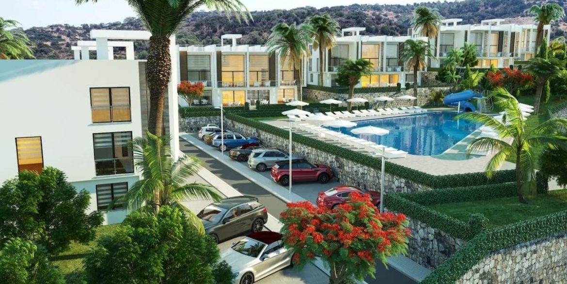 Esentepe Beach Apartments Elevations - North Cyprus Property E2