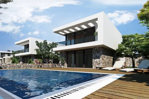 Bahceli Coast Luxury Seaview Semi Detached Villa - North Cyprus Property 1