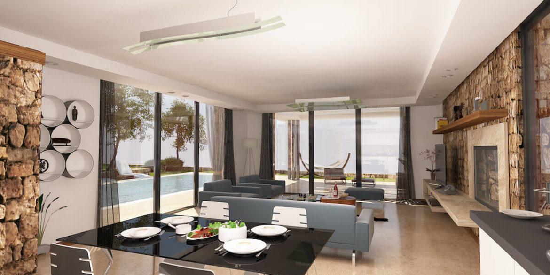 Beachfront Ultra-Modern Seaview villa 3 Bed - North Cyprus Property 1