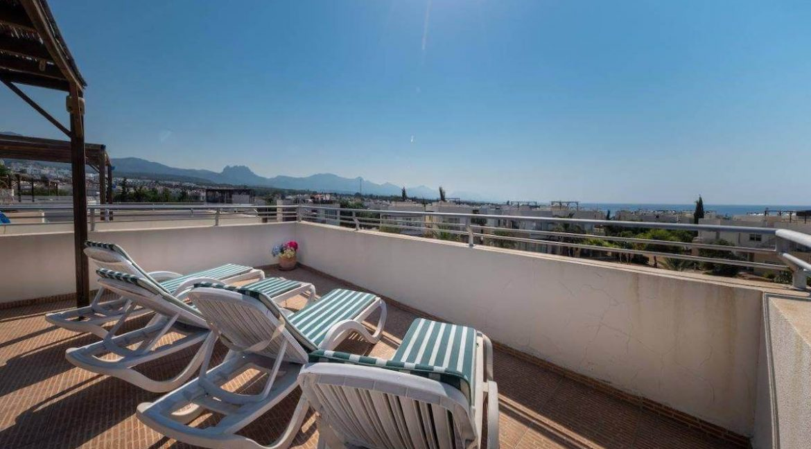 Turtle Beach & Golf Seaview Penthouse 2 Bed - North Cyprus Property Z32