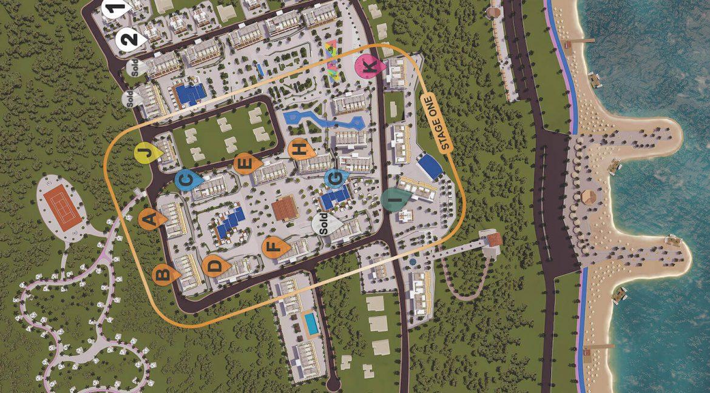 Esentepe Cliff Villas 3 Bed Site Plan - North Cyprus Property