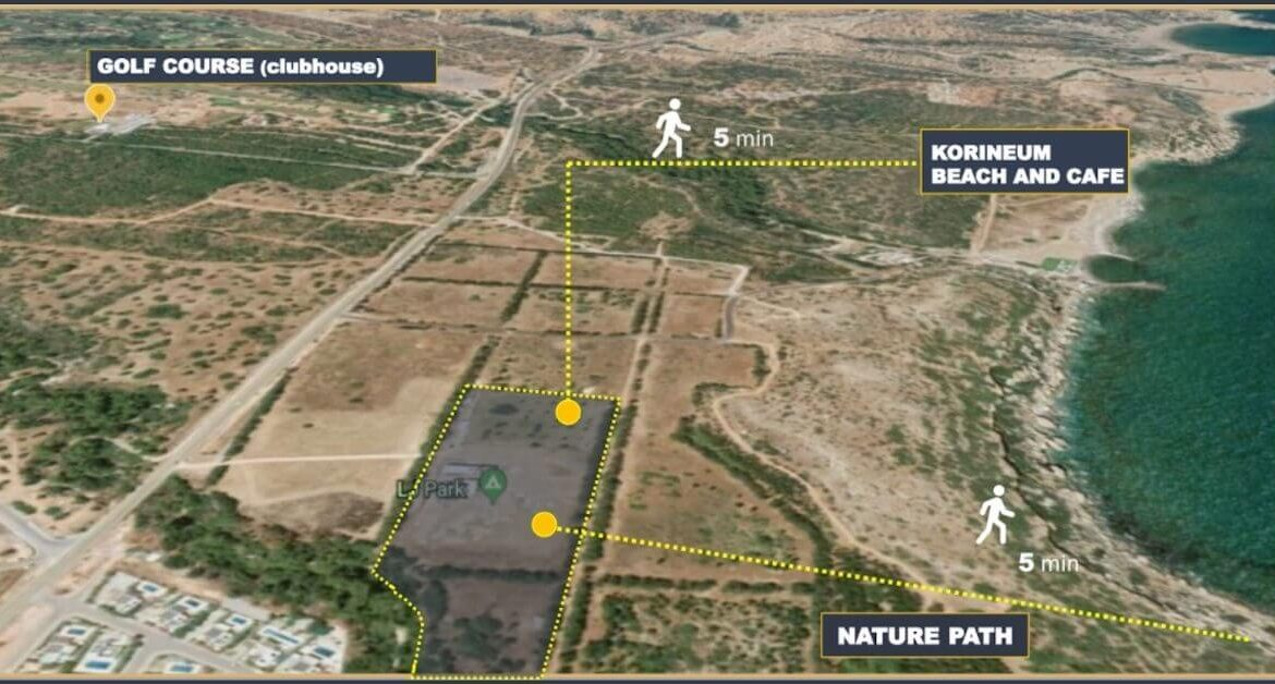 Esentepe Seaview Gold Penthouse 2 Bed Site Map - North Cyprus Property